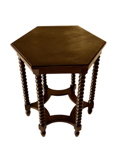 1930's Italian Hexagonal Shaped Side Table