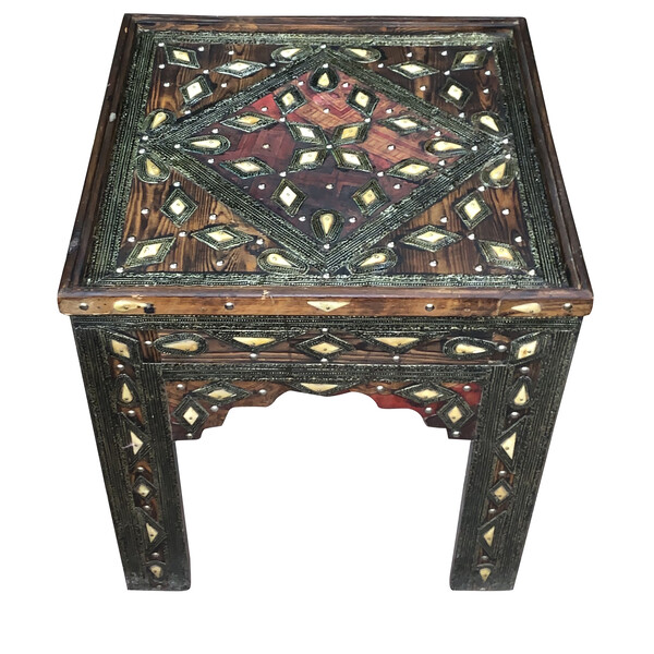 1920's Moroccan Square Side Table